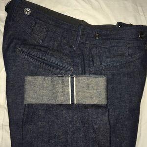 Ralph Lauren Polo RRL hemp indigo pants jeans